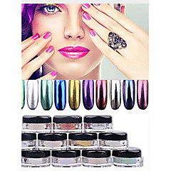 cheap Nail Care & Polish-1pc Glitter Powder Nail Art Forms Matte / Shimmer / Glitter Shine Solid Colored nail art Manicure Pedicure Glitter Casual / Daily Party Evening / Business / Ceremony / Wedding / Daily