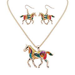 baratos Conjuntos de Bijuteria-Mulheres Conjunto de jóias - Animal Luxo, Original, Pingente Incluir Dourado / Prata Para Graduação Obrigado O negócio