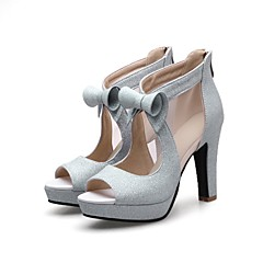Damă Tocuri Primăvară Vară Confortabili Noutăți Gladiator Tălpi cu Lumini Pantofi Club Pantofi formale Materiale PersonalizateNuntă Birou