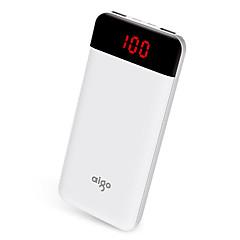 strømbank eksternt batteri 5V 1.0A 2.1A #A Batterilader med kabel Flere utganger LCD