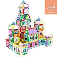 tanie Klocki magnetyczne-Blok magnetyczny Magnetyczne pałeczki Klocki 286 pcs Zabawne i intrygujące Unisex Dla chłopców Dla dziewczynek Zabawki Prezent