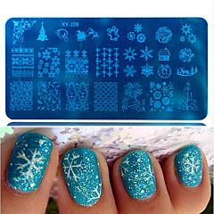 1db forró eladó gyönyörű hópehely szép design diy divat sajtolás lemez köröm rozsdamentes acél sajtolás lemez lengyel manikűr Beauty