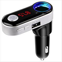 беспроводной Bluetooth-гарнитура автомобильный комплект автомобиля mp3-плеер fm передатчик двойной usb fm modulator a2dp usb charger for