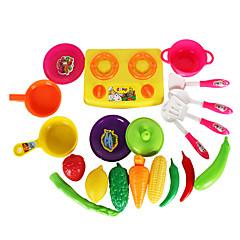 Tue so als ob du spielst Spielzeug-Küchen-Sets Spielzeuge Gemüse Spielzeuge friut Simulation Unisex Stücke