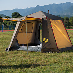 billige Telt og ly-3-4 personer Telt Dobbelt camping Tent Ett Rom Brette Telt Regn-sikker til Vandring Camping Reise CM