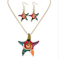 baratos Conjuntos de Bijuteria-Mulheres Logo Conjunto de jóias - Animal Luxo, Original, Vintage Incluir Dourado / Prata Para O negócio Diário Casual