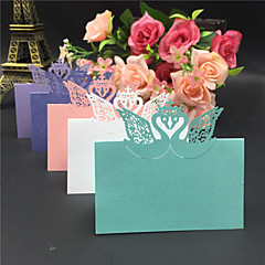 cheap Place Cards & Holders-40pcs Crown Swan Laser Cut Wedding Party Table Name Place Cards Wedding Party Decoration Wedding Favors Party Supplies