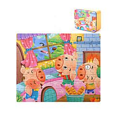 Bausteine Bildungsspielsachen Holzpuzzle Spielzeuge Quadratisch Schwein Stücke Kinder Jungen Geschenk