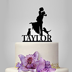 cheap Cake Toppers-Cake Topper Garden Theme Classic Theme Rustic Theme Classic Couple Acrylic Wedding Anniversary Bridal Shower With OPP