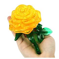 Puzzle 3D puzzle Stavební bloky DIY hračky Růže Plast Modelování