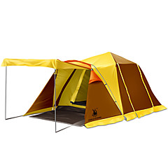 billige Telt og ly-GAZELLE OUTDOORS 3-4 personer Beskyttelse & Presenning Dobbelt camping Tent To Rom Tre Rom Brette Telt Vanntett Vindtett Ultraviolet