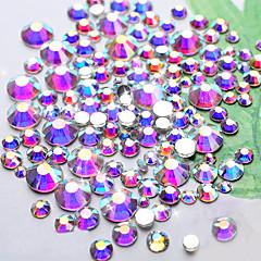 クリスタルabネイルアートrhinestones1440pcs / lot ss4 dmcの輝き最高品質のフラットバック非修正DIY衣類爪装飾ツール