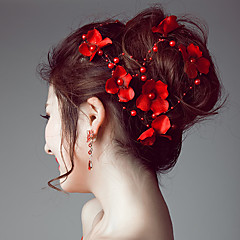 Imitation Pearl Satin Headbands Flowers Hair Tool Head Chain Headpiece