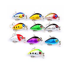 10 pcs Poissons nageur/Leurre dur Manivelle leurres de pêche Poissons nageur/Leurre dur Manivelle Kits de leurre Multicolore g/Once,30 mm/