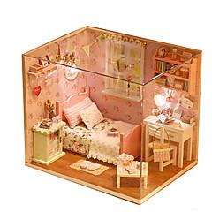 Sada na domácí tvoření Domek pro panenky Hračky Udělej si sám Obdélníkový Dřevo Pieces Pánské Unisex Vánoce Narozeniny Dárek