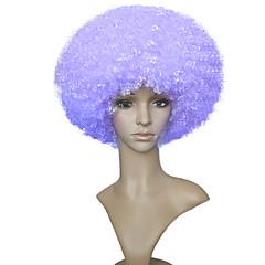 billiga Peruker och hårförlängning-Syntetiska peruker Afro Bob-frisyr Syntetiskt hår Afro-amerikansk peruk Lila Peruk Dam Korta Naturlig peruk Utan lock