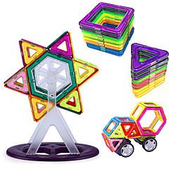 צעצועים מגנטיים אבני בניין פאזלים3D בלוקים מגנטיים מגדיר בניין מגדיר צעצועי מדע וגילויים מקל מתחים צעצוע חינוכי 93 חתיכות צעצועים מתכת