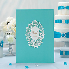 Blue/Pearl Paper/Classic Theme/Sided Hollow Out/Guest Book Wedding Ceremony