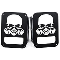 Kawell crânio máscara de gás protetor de protetor de luz preto para 2007-2016 jipe wrangler 2/4 porta esporte x sahara ilimitado rubicon
