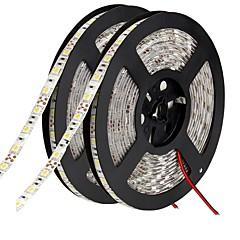 10 tuumaa Joustavat LED-valonauhat 600 LEDit 5050 SMD Lämmin valkoinen / Valkoinen / Punainen Leikattava / Yhdistettävä / Ajoneuvoihin sopiva 12 V / Itsekiinnittyvä / IP44