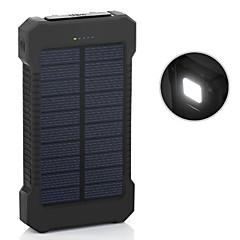 6000mAh strømbank eksternt batteri 5V 1.0A 2.0AA Batterilader Lommelykt Flere utganger Solenergilading Automatisk strømjustering Supertynn