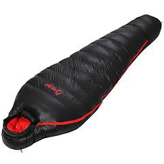 baratos -Saco de dormir Tipo Múmia Solteiro (L150 cm x C200 cm) -15~-5 Penas de PatoX80 Campismo Viajar Exterior Interior Prova-de-Água