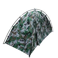 """1 אדם אוהל כפול קמפינג אוהל חדר אחד אוהל מתקפל עמיד למים נייד מוגן מגשם ל צעידה קמפינג 1500-2000 מ""""מ סיבי זכוכית אוקספורד CM"""