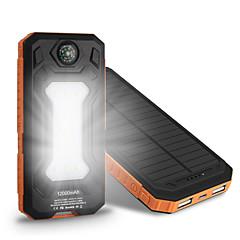 billige Eksterne batterier-6000 mAh Til Power Bank Eksternt batteri 5 V Til 1 A / 2 A Til Batterilader Flere utganger / Solenergilading / Automatisk strømjustering