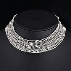 Γυναικεία Κολιέ Τσόκερ Κολιέ με Αλυσίδα Y-Κολιέ Κοσμήματα Cross Shape Στρας Κράμα Κοσμήματα Για Γάμου Πάρτι Αρραβώνας Καθημερινά 1pc