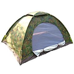 billige Telt og ly-2 personer Telt Enkelt camping Tent Ett Rom Brette Telt Fukt-sikker Velventilert Vanntett Vindtett Ultraviolet Motstandsdyktig