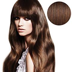 20pcs tüy uzantıları # 4 orta kahverengi çikolata kahverengi 40g 16inch 20inch kadınlar için% 100 insan saçı