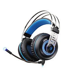 billiga Headsets och hörlurar-A7 Över örat / Headband Kabel Hörlurar Dynamisk Plast Spel Hörlur Med volymkontroll / mikrofon / Ljudisolerande headset