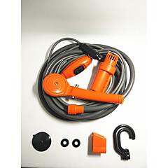 Carro laranja chuveiro 12v elétrico prático chuveiro ao ar livre fácil máquina de lavar
