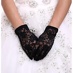 До запястья С открытыми подушечками пальцев Перчатка Кружева Спандекс Свадебные перчатки Вечерние перчатки Весна Лето Осень