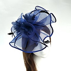 cheap Party Hats-Tulle Feather Net Fascinators Hats Birdcage Veils 1 Wedding Special Occasion Headpiece