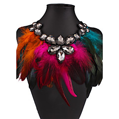 cheap Necklaces-Women's Wings / Feather Euramerican Statement Necklace Feather Statement Necklace , Wedding Party Special Occasion Anniversary Birthday