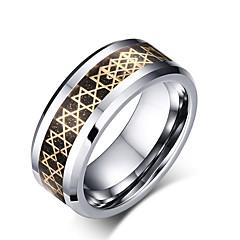 お買い得  レディース  ジュエリー-男性用 指輪 オリジナル ベーシック ファッション 欧米の シンプルなスタイル タングステン合金 円形 幾何学形 ジュエリー パーティー 記念日 誕生日 おめでとう 卒業 ありがとうございました ビジネス 贈り物 日常 カジュアル スポーツ バレンタイン アウトドア