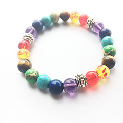 Fashion Natural Rainbow Colorful Agate Stone Beads Bracelet