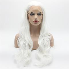 tanie Peruki syntetyczne-Syntetyczne koronkowe peruki Body wave Naturalna linia włosów Biały Damskie Koronkowy przód Karnawałowa Wig Halloween Wig Peruka naturalna