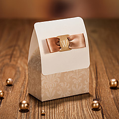 cuboid kart kağıt şerit lehim tutucu lehine kutular-12 düğün iyilikleri