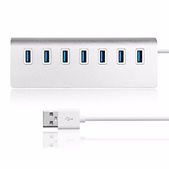 usb 3,0 hub USB 7 ports en aluminium pour imac, macbooks, ordinateurs et ordinateurs portables