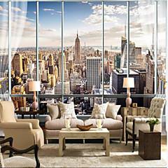 billige Tapet-urban høyhus vinduer skreddersydde 3d store veggdekorasjoner veggmalerier bakgrunnsbilder passer restaurant soverom kontor byen
