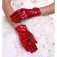 Imitatieleer Polslengte Handschoen Bruidshandschoenen With Geplooid