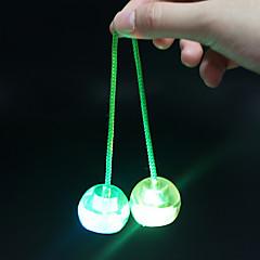 tanie Jojo-Oświetlenie LED Jojo Piłeczki Finger Yo yo Gadżety antystresowe Zabawki Zabawa Okrągły Owalne Włókienniczy żel krzemionkowy Plastikowy