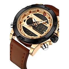 preiswerte Herrenuhren-NAVIFORCE Herrn Digitaluhr Einzigartige kreative Uhr Armbanduhr Militäruhr Modeuhr Sportuhr Armbanduhren für den Alltag Japanisch Quartz