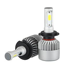 abordables Luces de Coche-2pcs H7 Coche Bombillas 36W/pcs*2W COB 3600lm LED Luz de Casco