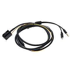 Kkmoon carro 3.5mm aux in audio cd player adaptador de carregador adaptador de cabo para iphone 5 5s 5c 6 6plus para opel