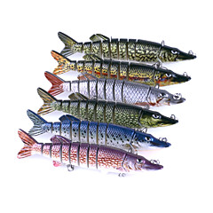 cheap Fishing Lures & Flies-6pcs pcs Fishing Accessories Crocodile Minnow Jerkbaits Plastic Easy to Use Sea Fishing Spinning Trolling & Boat Fishing General Fishing