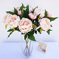 billige Kunstige blomster-Kunstige blomster 1 Gren Enkel Stil Peoner Bordblomst