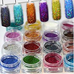17butele / set 0.2g / sticla de moda superb stil colorat strălucitor diy farmec pigment decorare unghii arta laser luciu holografic